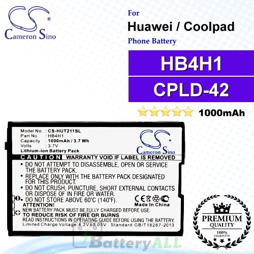 CS-HUT211SL For Huawei Phone Battery Model HB4H1
