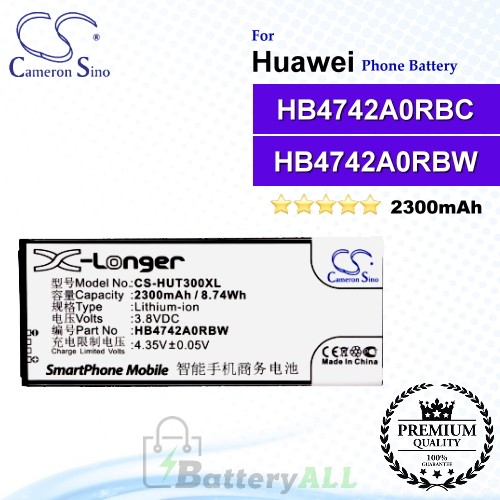 CS-HUT300XL For Huawei Phone Battery Model HB4742A0RBW / HB4742A0RBC