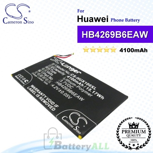 CS-HUX100XLFor Huawei Phone Battery Model HB4269B6EAW