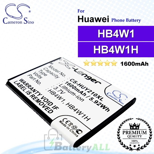 CS-HUY210XL For Huawei Phone Battery Model HB4W1 / HB4W1H
