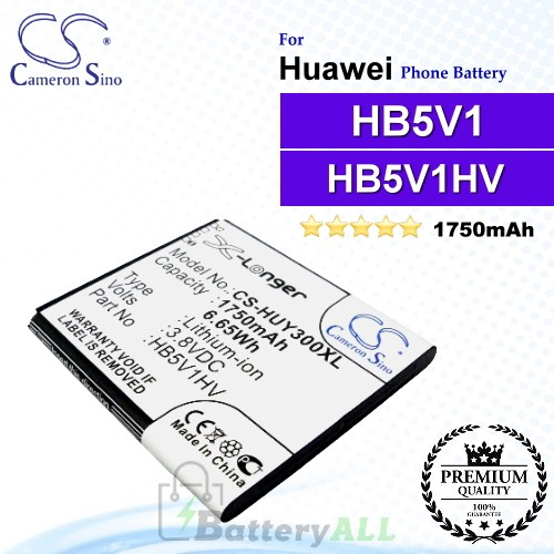 CS-HUY300XL For Huawei Phone Battery Model HB5V1 / HB5V1HV