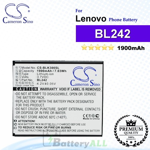 CS-BLK300SL For Lenovo Phone Battery Model BL242