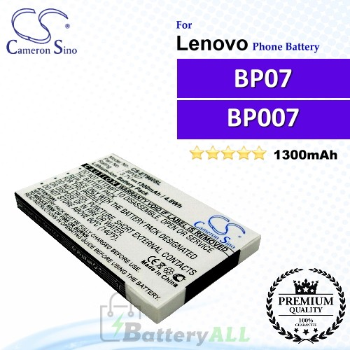 CS-ET960SL For Lenovo Phone Battery Model BP07