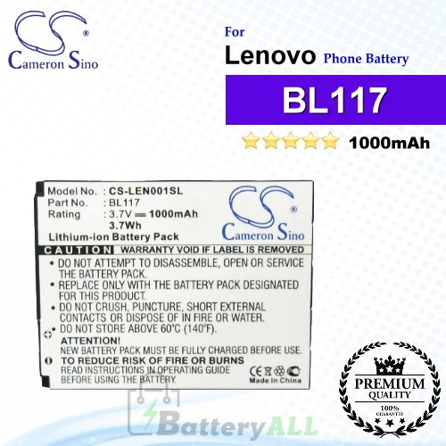 CS-LEN001SL For Lenovo Phone Battery Model BL117