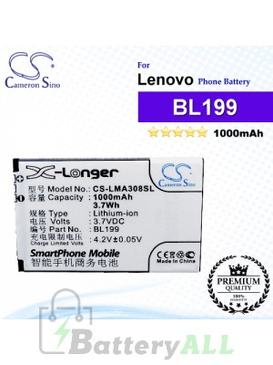 CS-LMA308SL For Lenovo Phone Battery Model BL199