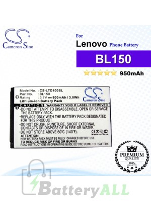 CS-LTD100SL For Lenovo Phone Battery Model BL150