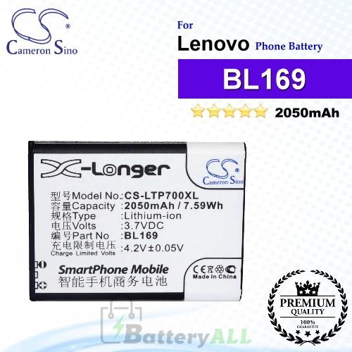 CS-LTP700XL For Lenovo Phone Battery Model BL169