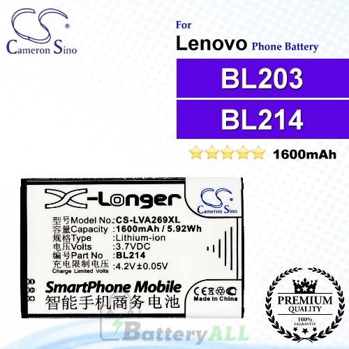 CS-LVA269XL For Lenovo Phone Battery Model BL203 / BL214