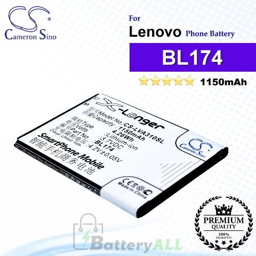 CS-LVA310SL For Lenovo Phone Battery Model BL174