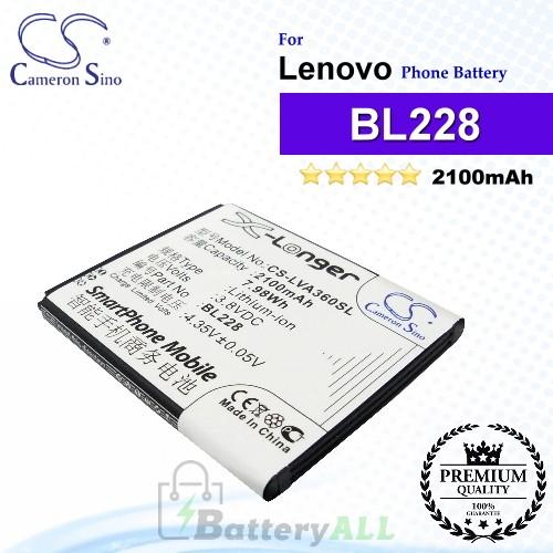 CS-LVA360SL For Lenovo Phone Battery Model BL228