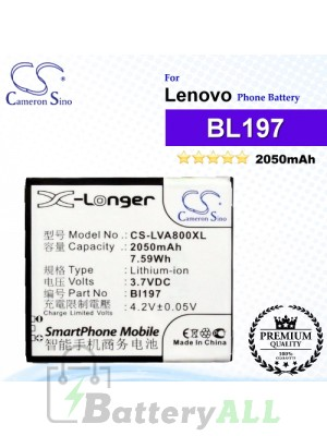 CS-LVA800XL For Lenovo Phone Battery Model BL197