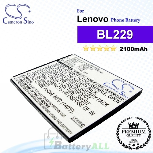 CS-LVA808SL For Lenovo Phone Battery Model BL229