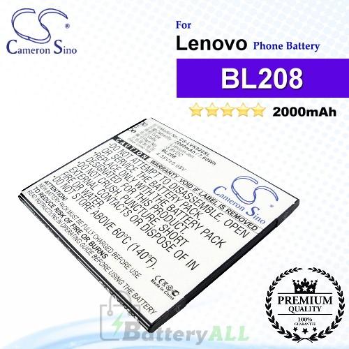 CS-LVK920SL For Lenovo Phone Battery Model BL208