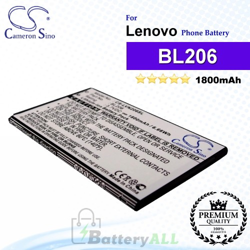 CS-LVN206SL For Lenovo Phone Battery Model BL206