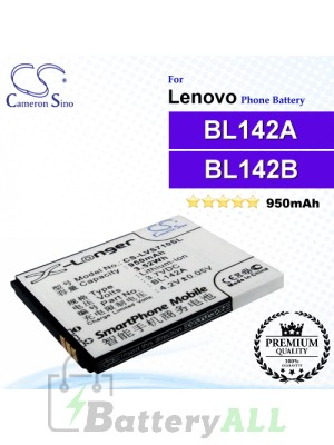 CS-LVS710SL For Lenovo Phone Battery Model BL142A / BL142B