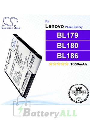 CS-LVS760SL For Lenovo Phone Battery Model BL179 / BL180 / BL186 / BL194 / BL200