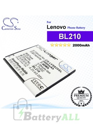CS-LVS820SL For Lenovo Phone Battery Model BL210