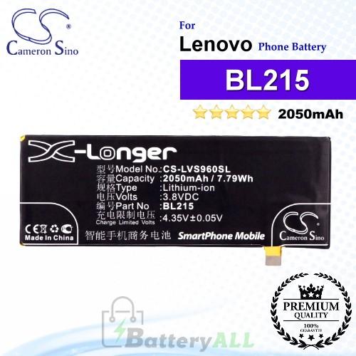 CS-LVS960SL For Lenovo Phone Battery Model BL215