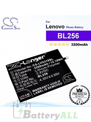CS-LVX310SL For Lenovo Phone Battery Model BL256