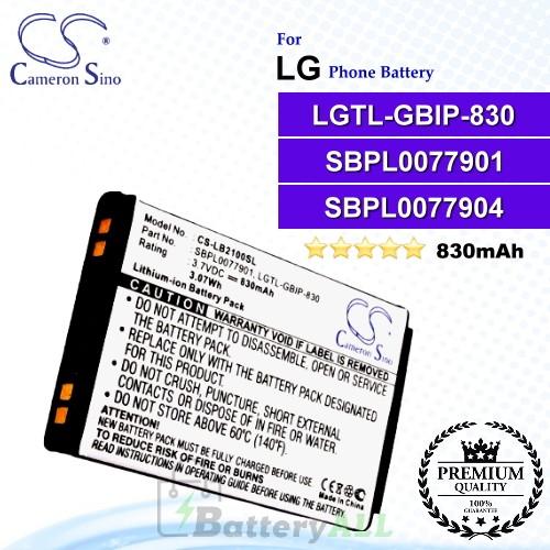 CS-LB2100SL For LG Phone Battery Model SBPL0077904 / SBPL0077901 / LGTL-GBIP-830
