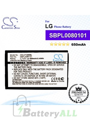 CS-LF1200SL For LG Phone Battery Model SBPL0080101
