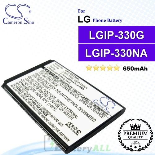 CS-LGD330SL For LG Phone Battery Model LGIP-330NA