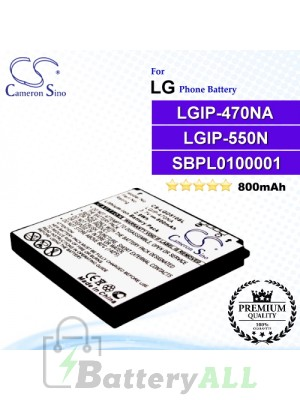 CS-LGD510SL For LG Phone Battery Model LGIP-470NA / LGIP-550N / SBPL0100001