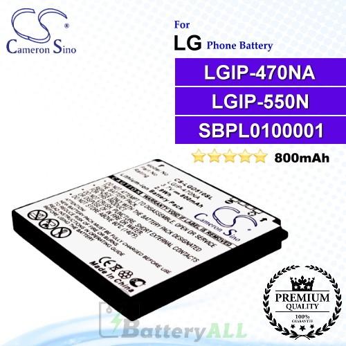 CS-LGD510SL For LG Phone Battery Model LGIP-470NA / LGIP-550N / SBPL0100001