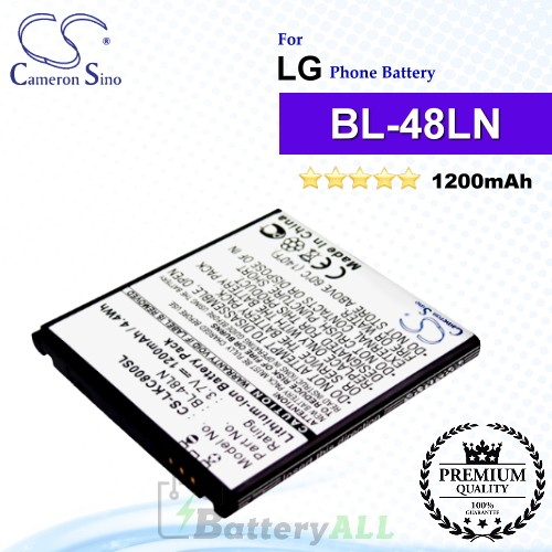 CS-LKC800SL For LG Phone Battery Model BL-48LN