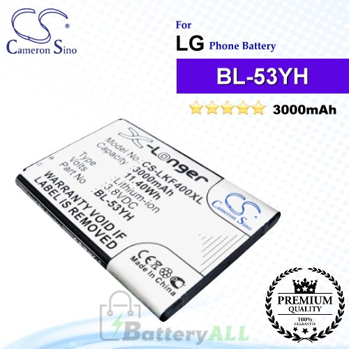 CS-LKF400XL For LG Phone Battery Model BL-53YH / EAC62378905