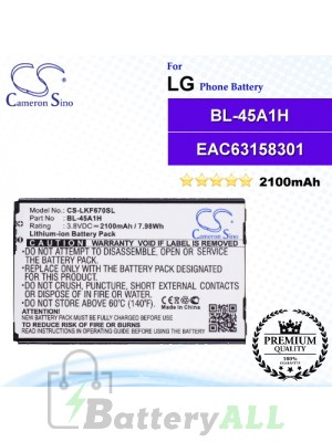 CS-LKF670SL For LG Phone Battery Model BL-45A1H / EAC63158301