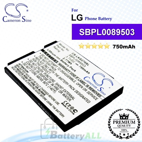 CS-LKG270SL For LG Phone Battery Model SBPL0089503