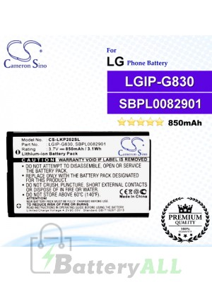 CS-LKP202SL For LG Phone Battery Model LGIP-G830