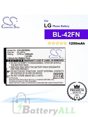 CS-LKP350SL For LG Phone Battery Model BL-42FN