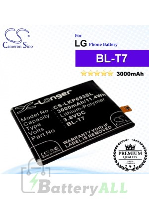 CS-LKP693SLFor LG Phone Battery Model BL-T7