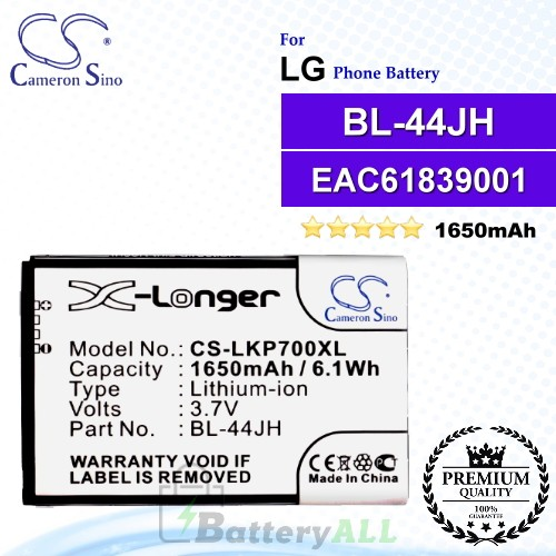 CS-LKP700XLFor LG Phone Battery Model BL-44JH / EAC61839001 / EAC61839006