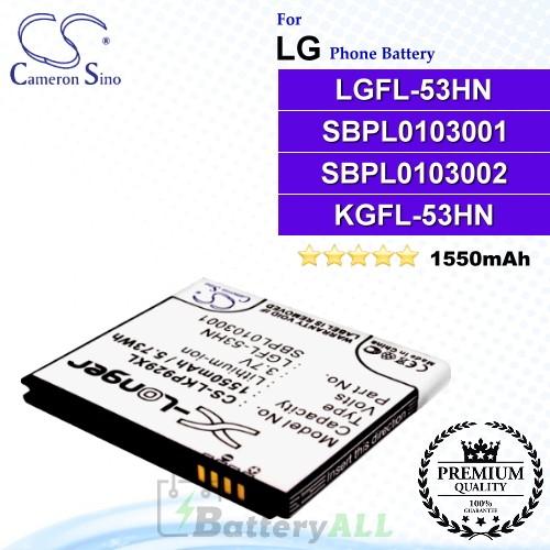 CS-LKP929XL For LG Phone Battery Model LGFL-53HN / SBPL0103001 / SBPL0103002 / KGFL-53HN