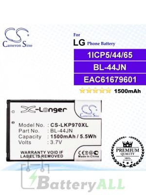 CS-LKP970XL For LG Phone Battery Model BL-44JN / EAC61679601 / 1ICP5/44/65