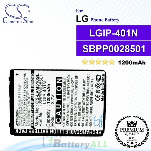 CS-LVM510SL For LG Phone Battery Model LGIP-401N / SBPP0028501