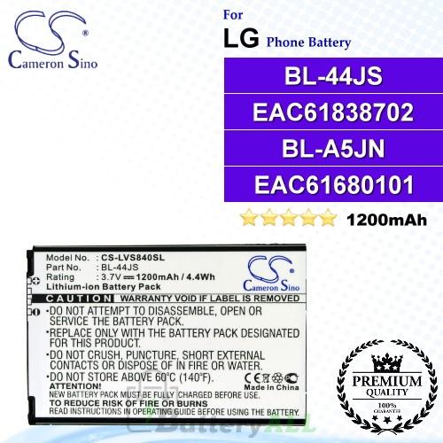 CS-LVS840SL For LG Phone Battery Model BL-44JS / EAC61838702 / BL-A5JN / EAC61680101