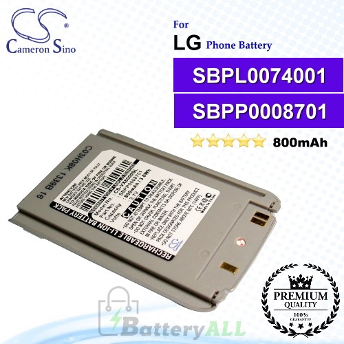 CS-VX8000SL For LG Phone Battery Model SBPP0008701 / SBPL0074001