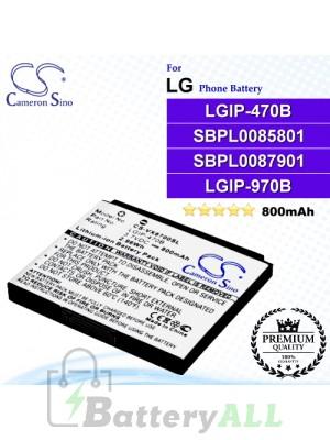 CS-VX8700SL For LG Phone Battery Model LGIP-470B / SBPL0085801 / SBPL0087901 / LGIP-970B
