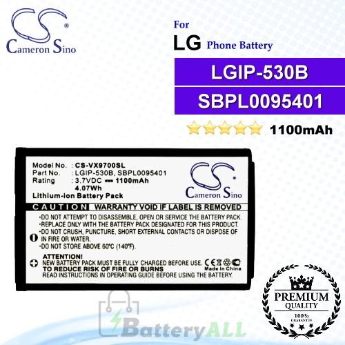 CS-VX9700SL For LG Phone Battery Model LGIP-530B / LGIP-930B / SBPL0095401 / SBPL0095601