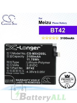 CS-MX420SL - Meizu Phone Battery Model BT42