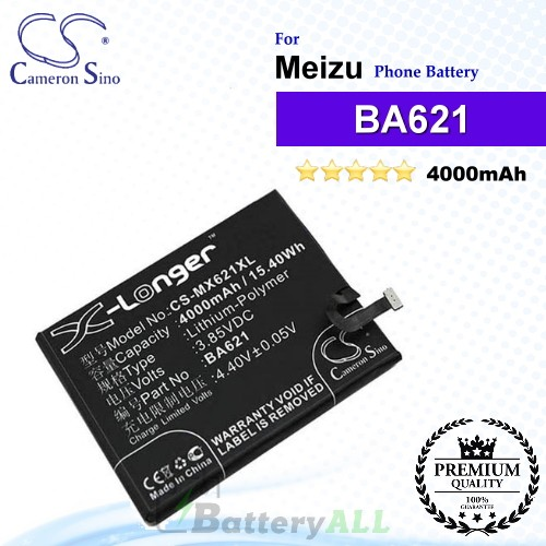 CS-MX621XL - Meizu Phone Battery Model BA621