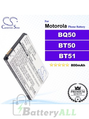 CS-E1000SL For Motorola Phone Battery Model BQ50 / BT50 / BT51 / CFNN1037 / SNN5766A / SNN5771 / SNN5771A / SNN5804A / SNN5814A