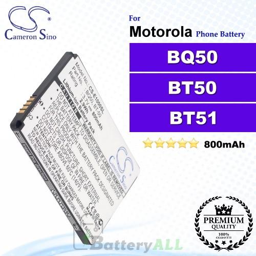 CS-E1000SL For Motorola Phone Battery Model BQ50 / BT50 / BT51 / CFNN1037 / SNN5766A / SNN5771 / SNN5771A / SNN5804A / SNN5814A