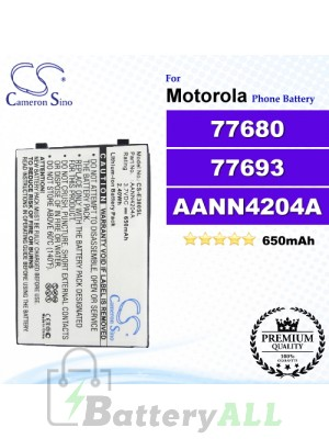 CS-E380SL For Motorola Phone Battery Model 77680 / 77693 / AANN4204A / AANN4210A / AANN4210B / AANN4258A / AANN4285B / BX200 / CFNN1028