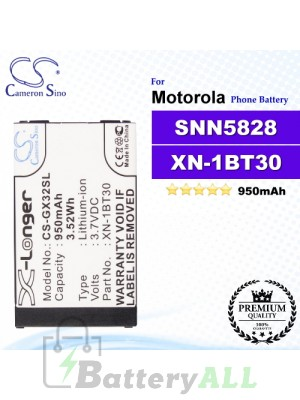 CS-GX32SL For Motorola Phone Battery Model SNN5828