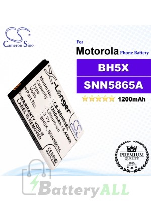 CS-MBH05SL For Motorola Phone Battery Model BH5X / SNN5865A